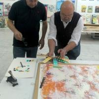 Alfonso Albacete trabajando